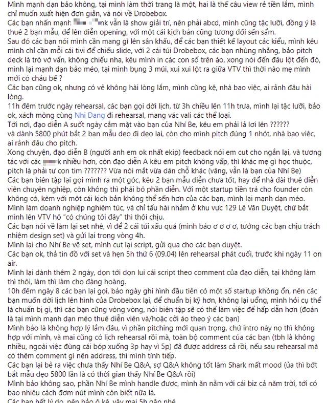 """Show nổi tiếng về khởi nghiệp bị """"tố"""" thiếu tôn trọng startup: Yêu cầu founder diễn lột áo để câu view, lịch quay hẹn tới hẹn lui nhưng đến phút 89 """"lật kèo"""" vì """"cần tính giải trí"""" - Ảnh 3."""