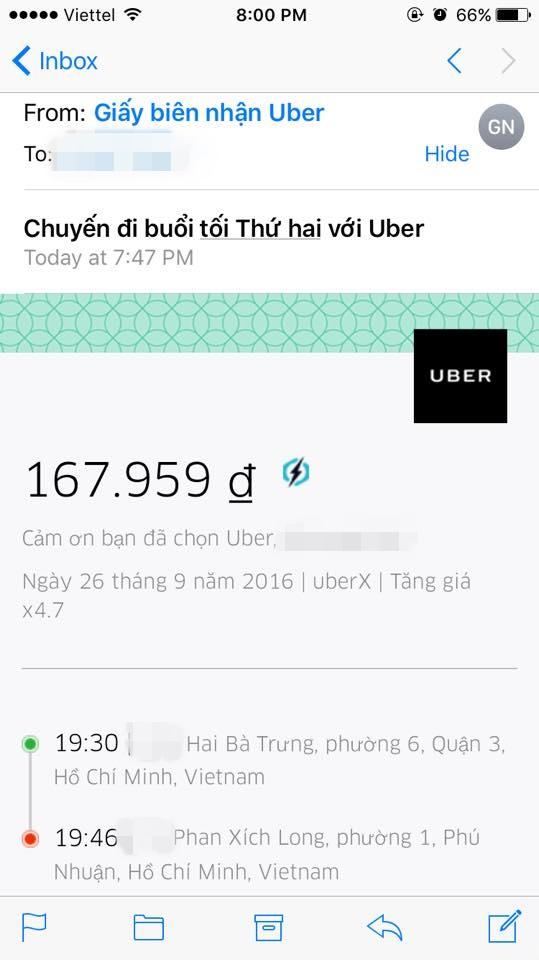 Xe chạy 2km nhưng số tiền phải trả đã lên tới 167.959 đồng