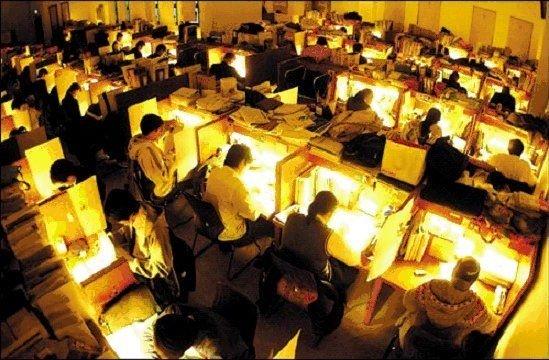 Bức ảnh từng được cộng đồng mạng Trung Quốc lan truyền và nói rằng đây là hình ảnh chụp ở thư viện của Harvard lúc 4h30 sáng.