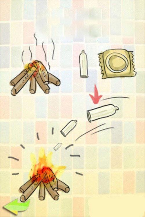 Bao cao su còn có thể sử dụng như vật liệu cháy khá nhiệt