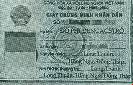 Hình ảnh chứng minh thư của con ông Hảo