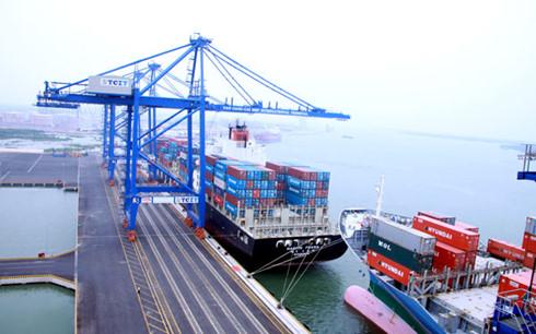 Tân Cảng sẵn sàng tiếp nhận tàu của Hanjin để giải phóng hàng hóa của doanh nghiệp. (Ảnh minh họa: KT)