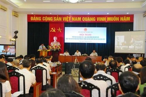 Toàn cảnh hội nghị trực tuyến sáng 17/9 (Ảnh: giaoduc.net.vn).