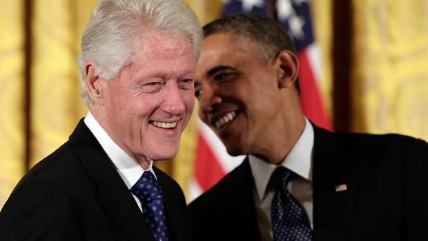 Ông Bill Clinton cùng Tổng thống Mỹ Barack Obama