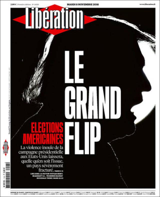 Tờ Liberation của Pháp gọi đây là Bước ngoặt lớn và cho rằng dù kết quả là thế nào đi chăng nữa, tính chất dữ dội của cuộc đua khiến nước Mỹ bị chia rẽ nghiêm trọng.