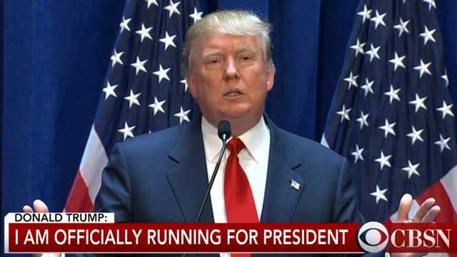 Ông Trump chính thức tuyên bố tranh cử tổng thống Mỹ