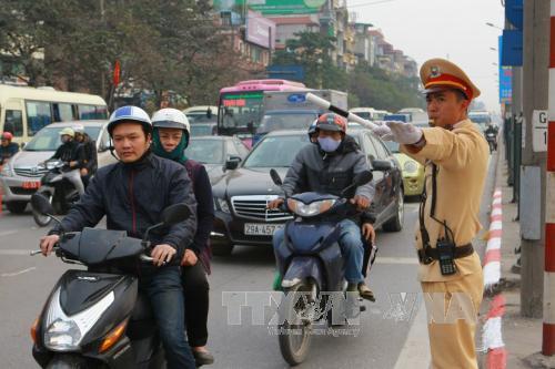 Dự thảo Đề án cấm xe máy vào nội đô đang gây nhiều tranh cãi. Ảnh minh họa: TTXVN