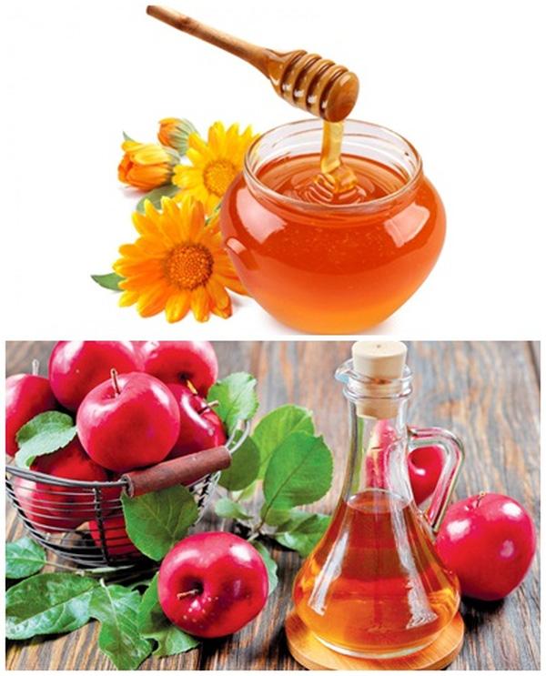 Sử dụng giấm táo và mật ong để làm sạch ruột và nhiều lợi ích khác. (Ảnh: Internet)