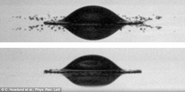 Thử nghiệm giọt nước rơi trên bề mặt cứng và mềm
