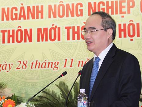 Chủ tịch Ủy ban Trung ương MTTQ Việt Nam Nguyễn Thiện Nhân: Cần thay đổi nhận thức của toàn xã hội về nông nghiệp. Ảnh: CHÂN LUẬN