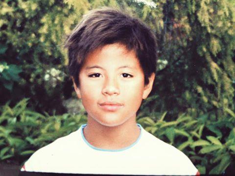 Ảnh Benjamin Kheng hồi nhỏ.