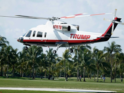 Trump đã chi 750.000 USD để thiết kế lại trực thăng Sikorsky S-76 của ông.