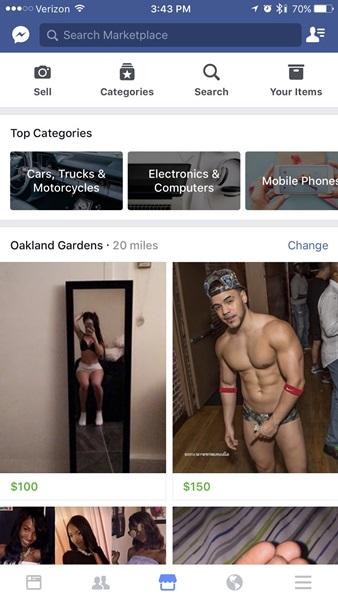 """Quy định của Facebook ghi rõ """"hàng hóa hay dịch vụ người lớn"""" không được bán trên mạng xã hội."""
