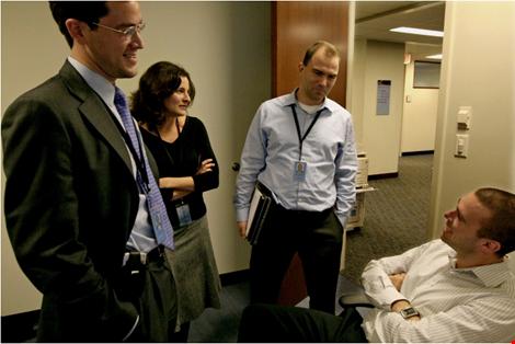 Bà Hurwitz và nhóm viết diễn thuyết cho Tổng thống Obama. Ảnh: Washington Post