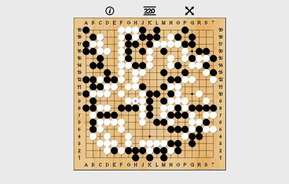 Tuy nhiên sau đó các quân cờ đen của Lee Sedol bị kẹt ở phía bên phải của bàn cờ.