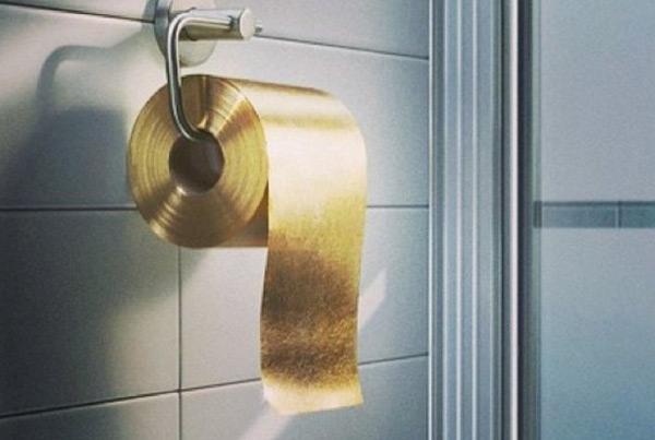 Giấy toilet bằng vàng