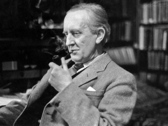 JRR Tolkien thời giảng dạy ở trường Merton, Oxford, năm 1955.