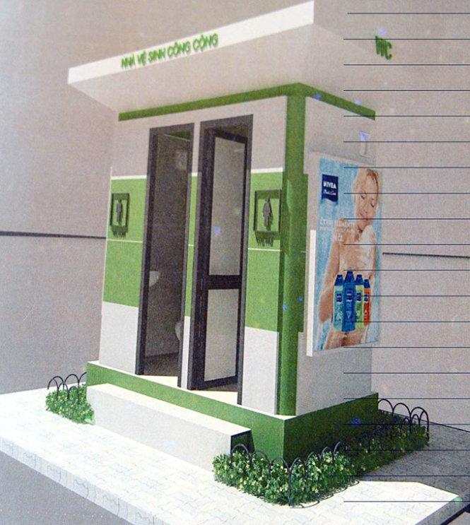 Bản vẽ mẫu nhà vệ sinh công cộng của công ty Vinasing - Ảnh: Tự Trung