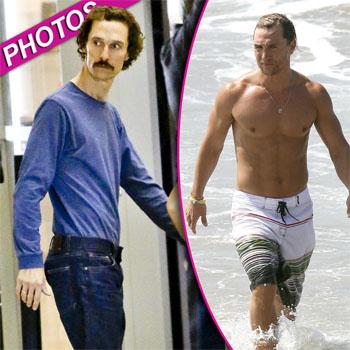 McConaughey trước và sau khi nhịn ăn để đóng phim.