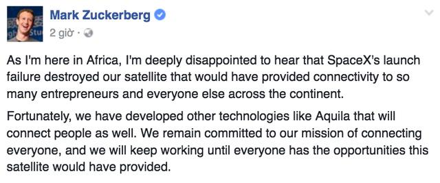 """CEO Mark Zuckerberg đã nói rằng anh """"thất vọng sâu sắc"""" trên Facebook:"""