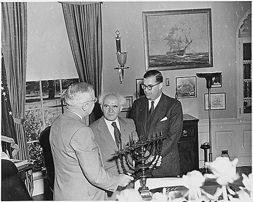 Thủ tướng Israel Ben Gurion cùng Tổng thống Mỹ Harry Truman