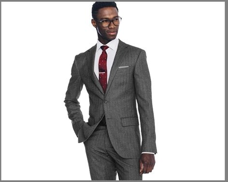 Indochino Charcoal Herringbone Linen Suit ($599)