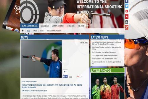 Trang chủ của Liên đoàn Bắn súng thế giới