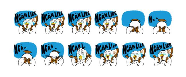 Chú chim Lạc được Facebook lựa chọn trở thành nhân vật chính của bộ sticker