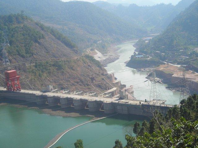 Đập Manwan trên sông Mekong thuộc lãnh thổ Trung Quốc.