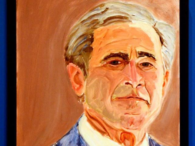 Một bức chân dung của cựu Tổng thống Mỹ George W. Bush. Ảnh: Benny Snyder/AP Photo.