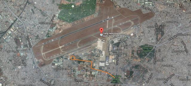 Vị trí dự kiến nhà ga T3 sân bay Tân Sơn Nhất