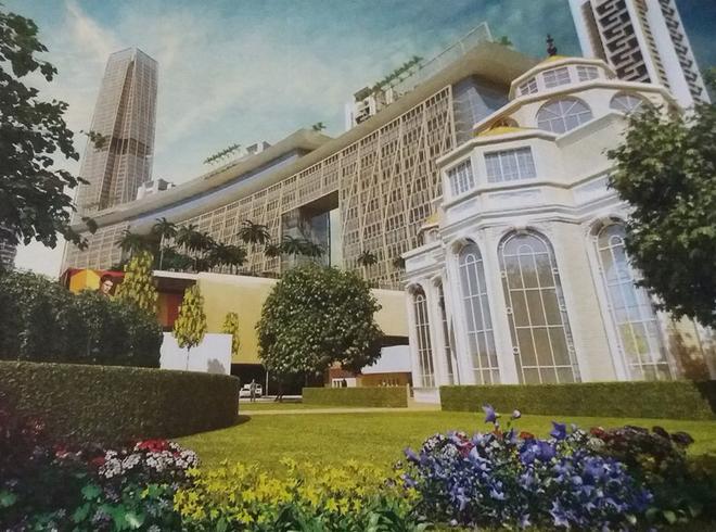 Hệ thống khách sạn 5-6 sao tọa lạc tại trung tâm của tổ hợp.