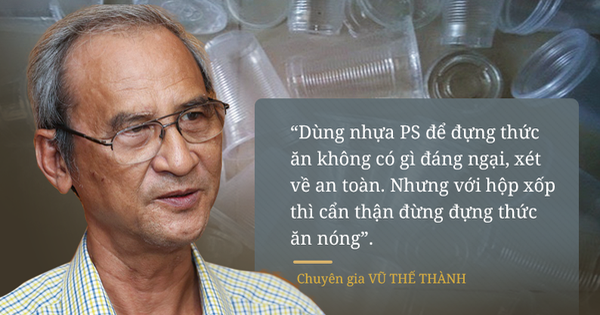 Đối thoại với chuyên gia Vũ Thế Thành: Hộp xốp, cốc nhựa dùng một lần - độc hay không độc?