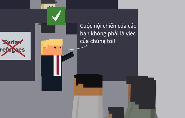 Giải thích chính sách cấm nhập cư gây sốc của Donald Trump qua hoạt hình