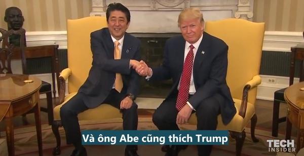 Nhìn cách ông Trump bắt tay với các nguyên thủ quốc gia từ Nhật, Anh tới Israel mới thấy đó là cả một nghệ thuật