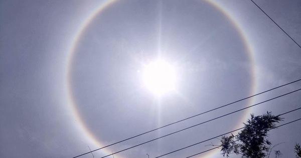 Mặt trời với vòng hào quang kỳ lạ xuất hiện ở Huế khiến người dân xôn xao