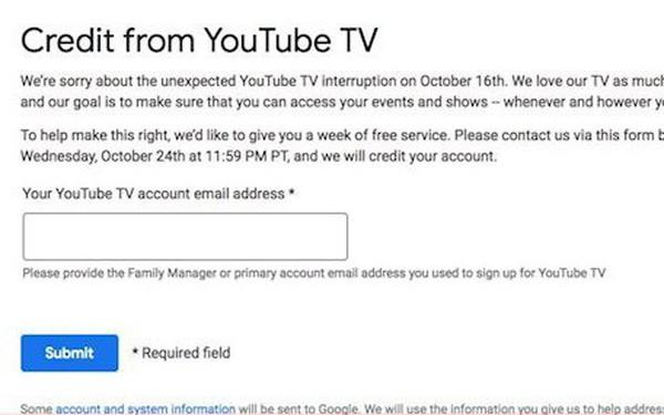 """YouTube """"bồi thường"""" cho người dùng một khoản tiền vì sự cố sập mạng vào tuần trước"""