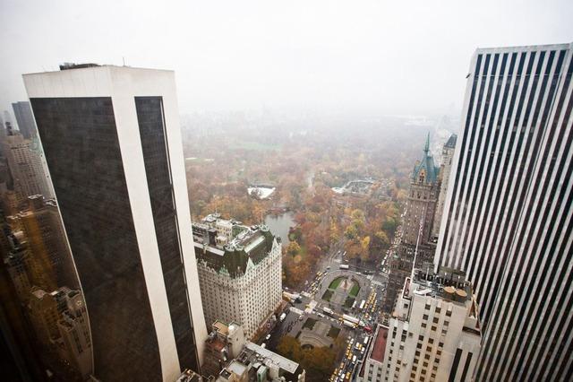 Góc nhìn ra bên ngoài từ căn penthouse của Donald Trump.