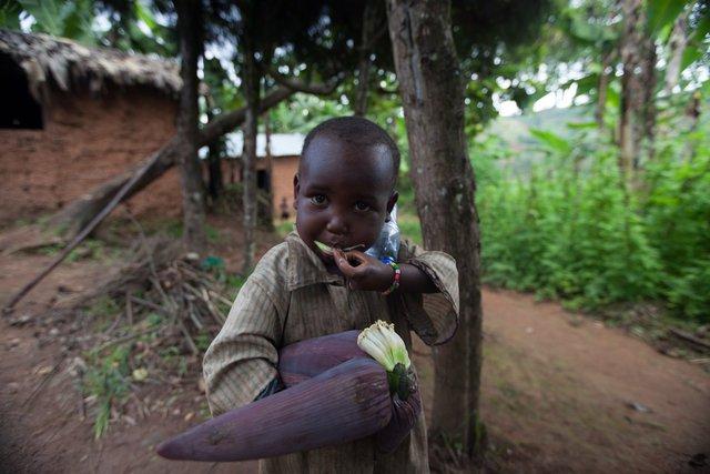 Với mức sống tương đương Ấn Độ, nhưng lũ trẻ ở Burundi, Châu Phi chỉ được chơi với những bắp ngô đã khô đét.