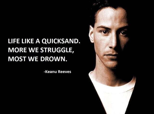 Cuộc sống như một đống cát lún, càng giẫy giụa mạnh ta càng ngập sâu hơn.