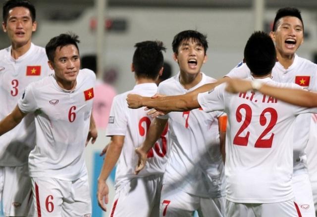 U19 Việt Nam trong trận thắng Bahrain 1-0