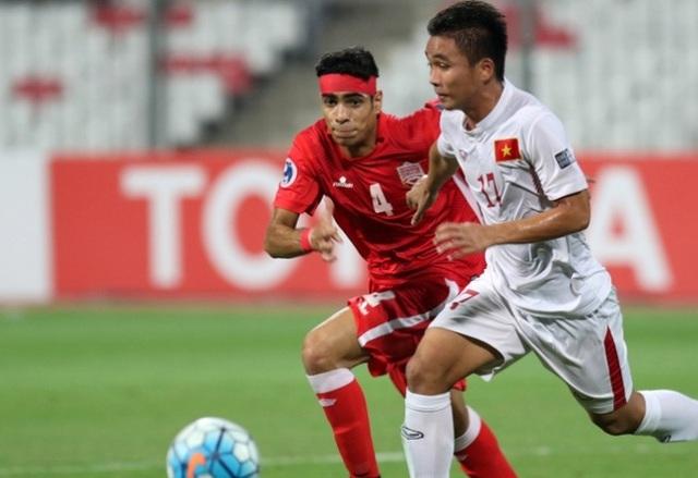 Bàn thắng của Trần Thành (áo số 17) là kết quả xứng đáng cho những nỗ lực của U19 Việt Nam