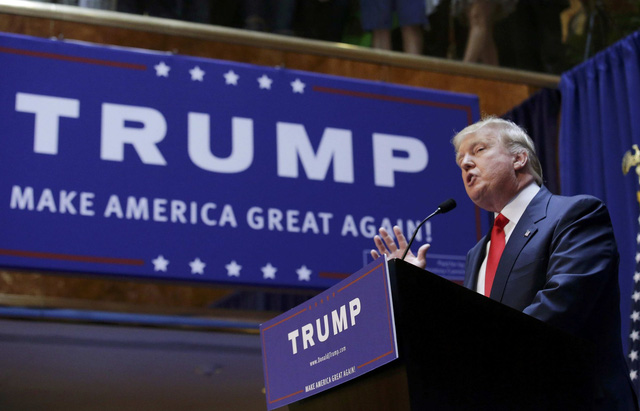 Ứng cử viên Tổng thống Mỹ 2016 Donald Trump
