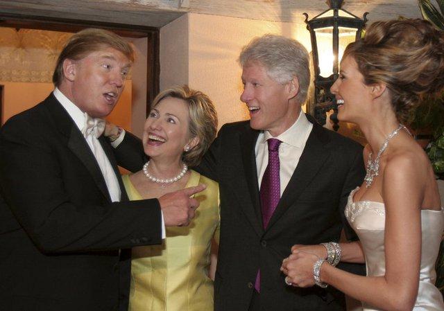 Tỷ phú Trump từng là người quen của gia đình Clinton