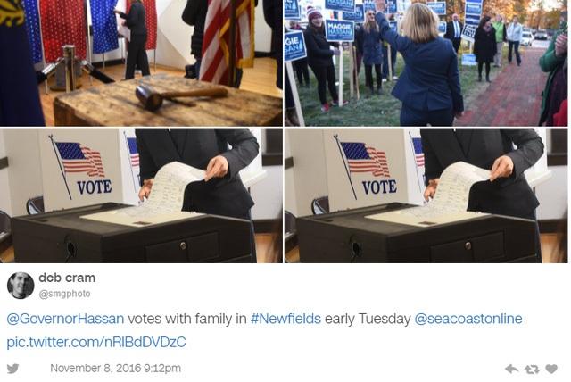 Hình ảnh về bầu cử được đăng tải trên Twitter (Nguồn: Twitter)