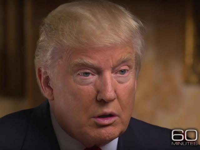 tỷ phú Donald Trump trong chương trình phỏng vấn với đài CBS