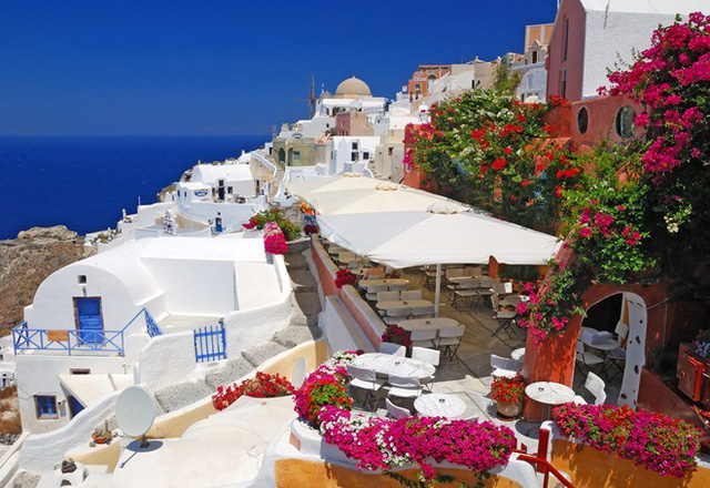 Đảo thiên đường Santorini ở Hy Lạp. (Nguồn ảnh: Vietravel)