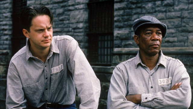 Andy Dufresne(Tim Robbins) và Ellis Boyd Red Redding (Morgan Freeman)