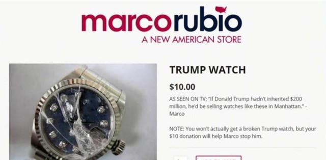 Chiếc đồng hồ vỡ từng gắn liền với câu chuyện vui về chiến dịch tranh của của ông Trump