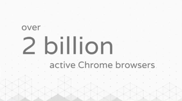 Hơn 2 tỷ trình duyệt Chrome đang hoạt động trên máy tính và di động.